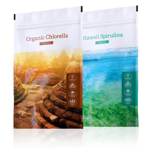 Chlorella POWDER + Hawaii Spirulina POWDER