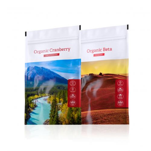Organic Cranberry powder + Organic Beta powder