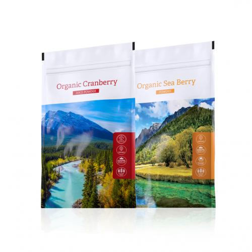 Organic Cranberry powder + Organic Sea Berry powder