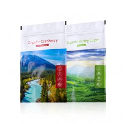 Organic Cranberry powder + Organic Barley Juice powder