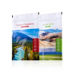Organic Cranberry powder + Barley Juice tabs
