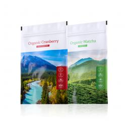 Organic Cranberry powder + Organic Matcha powder